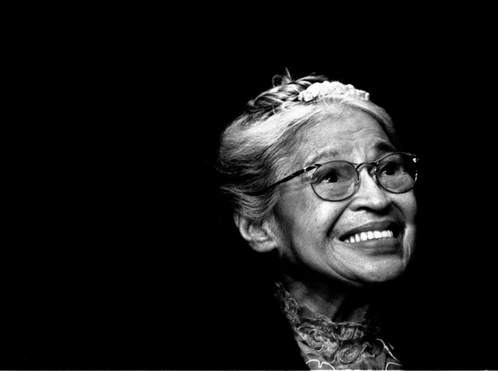 In this Nov. 28, 1999, file photo, Rosa Parks smiles during a ceremony where she received the Congressional Medal of Freedom in Detroit. (Paul Sancya/AP file photo)