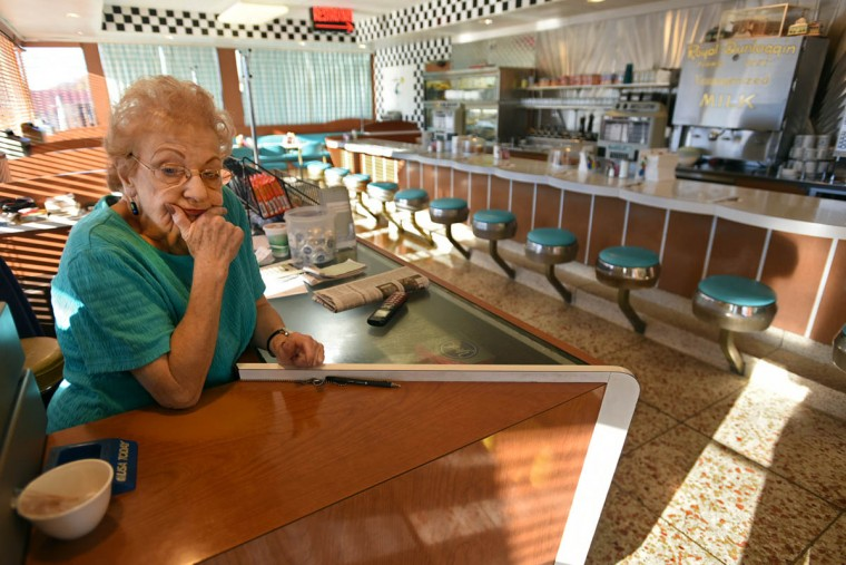 Jean Bell, 75, came to the Bel-Loc Diner as a waitress when it opened in 1964 and never left. She is now the general manager and handles the front register during operating hours. (Amy Davis, Baltimore Sun)