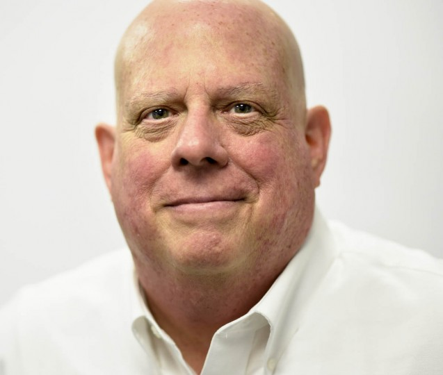 Maryland Gov. Larry Hogan after a press conference in Reisterstown. (Christopher T. Assaf, Baltimore Sun)