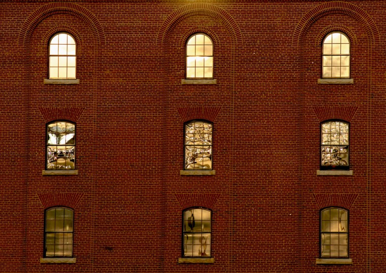 The warehouse as light from the setting Sun strikes the building before the start of the game against the Tampa Bay Rays at Oriole Park at Camden Yards Saturday, Apr. 11, 2009. (Karl Merton Ferron/Baltimore Sun)