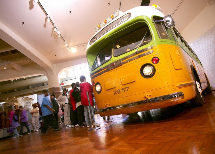 The Henry Ford - Rosa Parks bus. The bus, purchased by a museum in October 2001, arrived from Montgomery, Alabama after spending 30 years in a field. Exposed to the elements, the bus underwent nearly five months of restoration.