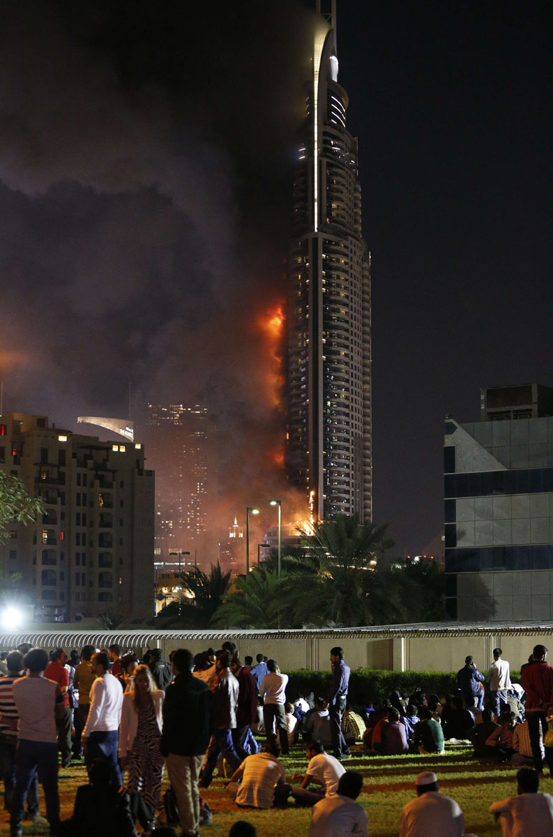 Fire breaks out in dubai hotel on new year s eve for Best hotels in dubai 2015