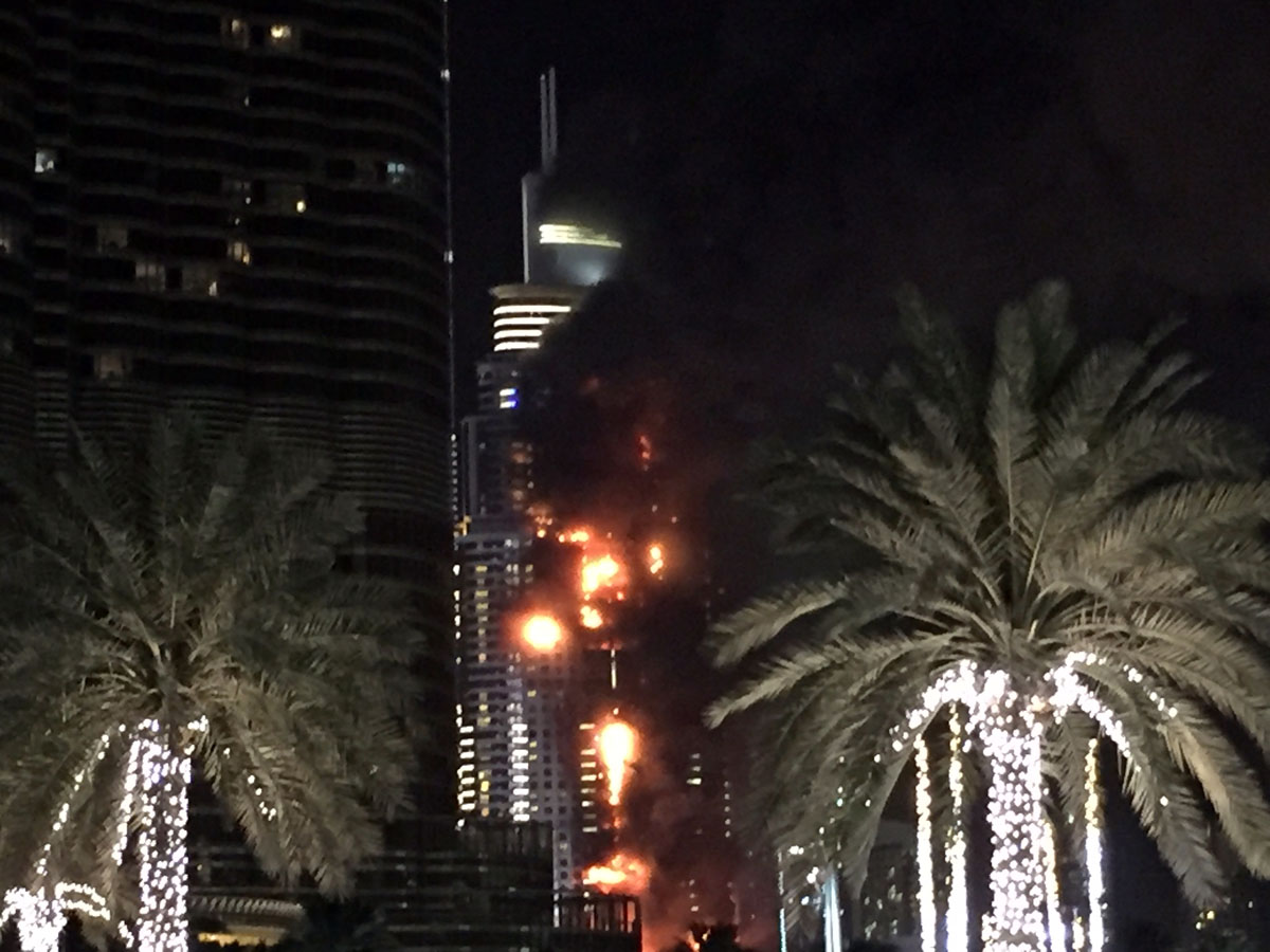 Fire Erupts At Building In Downtown Dubai; Doesn't Interrupt Fireworks