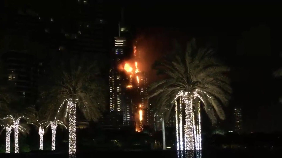 Fire breaks out in Dubai hotel on New Year's Eve