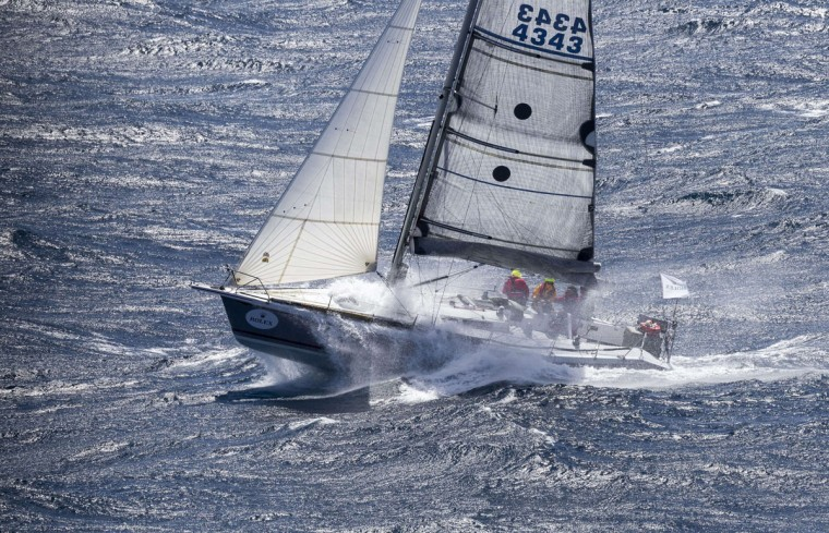 This handout photo from Rolex, shows Wild Rose competing in the Sydney to Hobart yacht race on December 27, 2015. *(STEFANO GATTINI/AFP/Getty Images)