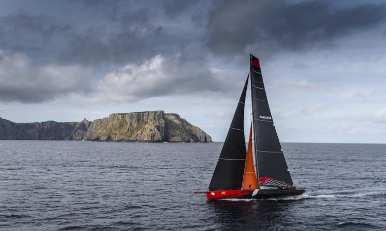 In this handout photo released by Rolex, US supermaxi yacht Comanche takes part in the Sydney to Hobart yacht race on December 28, 2015. (Kurt ARRIGO/AFP/Getty Images)