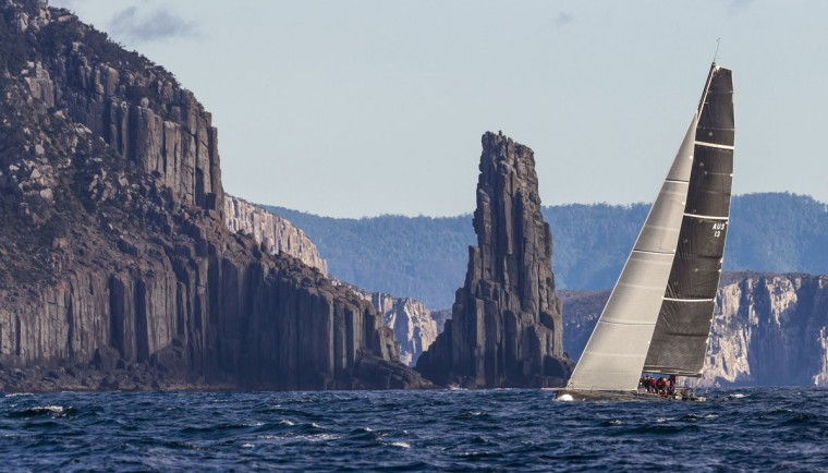 This handout photo from Rolex taken on December 27, 2015 shows Chinese Whisper arriving in Tasmanian waters during the Sydney to Hobart yacht race. (STEFANO GATTINI/AFP/Getty Images)