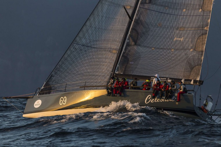 This handout photo from Rolex taken on December 27, 2015 shows Celestial during the Sydney to Hobart yacht race. (STEFANO GATTINI/AFP/Getty Images)