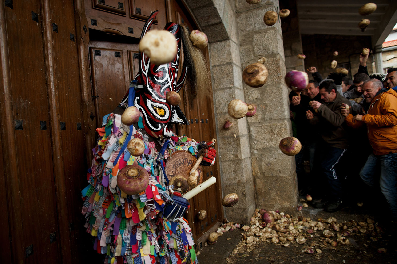 Throwing turnips at Spain's annual Jarramplas Festival