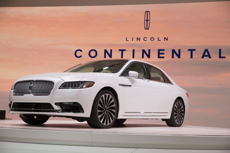 Lincoln introduces the 2017 Continental at the North American International Auto Show on January 12, 2016 in Detroit, Michigan. The car was introduced as a concept at the 2015 New York Auto Show. The Detroit show is open to the public from January 16-24. (Photo by Scott Olson/Getty Images)