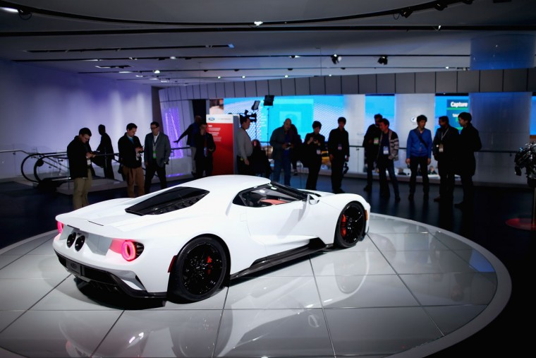 Ford shows off their GT at the North American International Auto Show on January 12, 2016 in Detroit, Michigan. The show is open to the public from January 16-24. (Photo by Scott Olson/Getty Images)