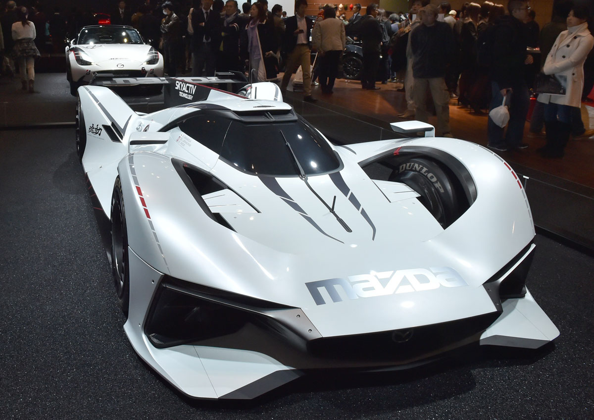 Mazda Motor Displays The Full Scale Model Virtual Sports Car, The Mazda  LM55 Vision Gran Turismo At Tokyo Auto Salon 2016 At Makuhari Messe In  Chiba On ...