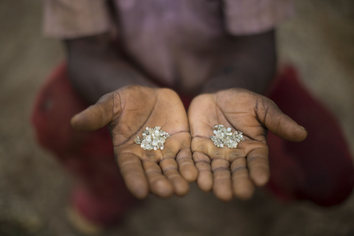 Rural miners in Brazil seek diamonds at abandoned mines