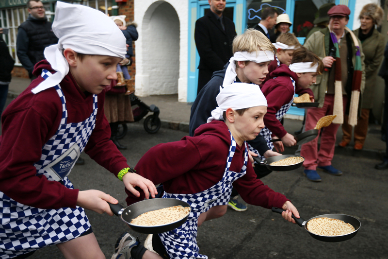 Shrove Tuesday trans-Atlantic pancake race