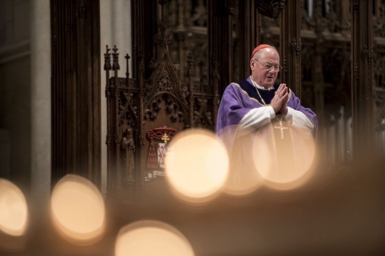 Cardinal Timothy Dolan holds mass on Ash Wednesday at St. Patrick's Cathedral on February 10, 2016 in New York City. The day marks the start of the lent for Catholics world wide. (Photo by Andrew Renneisen/Getty Images)