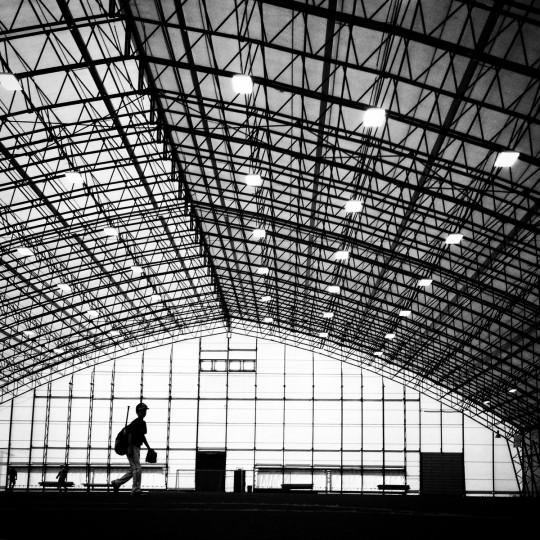 A young baseball player makes his way through an indoor field in Hershey, PA.   (Lloyd Fox/Baltimore Sun)