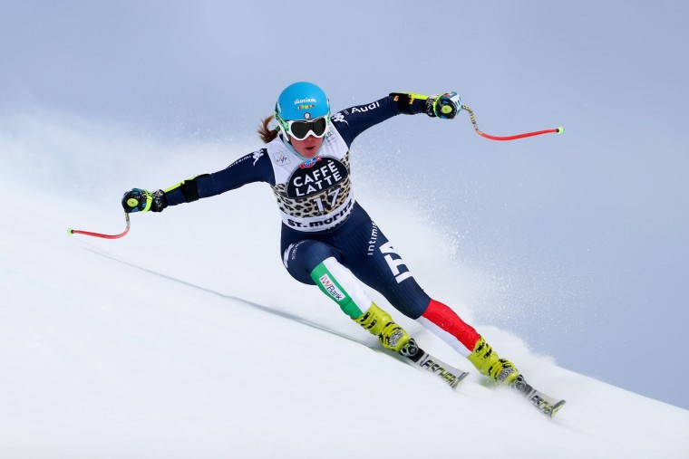 Verena Stuffer of Italy in action during the Audi FIS Alpine Skiing World Cup Women's downhill training on March 15, 2016 in St Moritz, Switzerland. (Photo by Clive Rose/Getty Images)