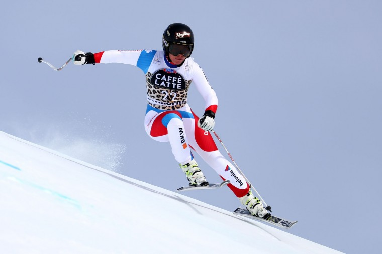 Lara Gut of Switzerland in action during the Audi FIS Alpine Skiing World Cup Women's downhill training on March 15, 2016 in St Moritz, Switzerland. (Photo by Clive Rose/Getty Images)