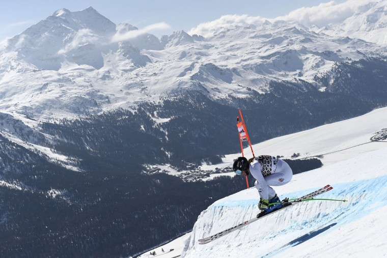Stacey Cook of the USA competes during the Audi FIS Alpine Ski World Cup Finals Women's Downhill Training on March 14, 2016 in St. Moritz, Switzerland. (Photo by Alain Grosclaude/Agence Zoom/Getty Images)