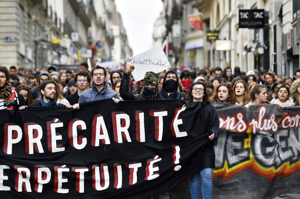 French labor reforms spark protests