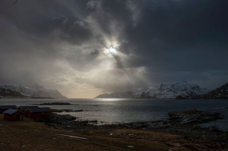 Cloudy sky is photographed near Leknes, in Lofoten Archipelago, Arctic Circle, on March 13, 2016. (OLIVIER MORIN/AFP/Getty Images)