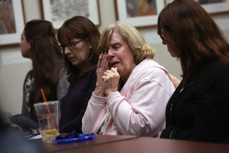 GROTON, CT - MARCH 23: A mother who's son is addicted to heroin shares her story during a family addiction support group on March 23, 2016 in Groton, CT. The group Communities Speak Out organizes monthly meetings at a public library for family members to talk about how their loved ones' addiction affects them and to give each other emotional support. Communities nationwide are struggling with the unprecidented heroin and opioid pain pill epidemic. On March 15, the U.S. Centers for Disease Control (CDC), announced guidelines for doctors to reduce the amount of opioid painkillers prescribed nationwide, in an effort to curb the epidemic. The CDC estimates that most new heroin addicts first became hooked on prescription pain medication before graduating to heroin, which is stronger and cheaper. (John Moore/Getty Images)