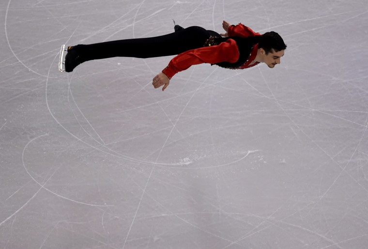 Javier Fernandez of Spain skates during the Mens Short Program at the ISU World Figure Skating Championships at TD Garden in Boston, Massachusetts, March 30, 2016. (Timothy A. Clary/AFP/Getty Images)