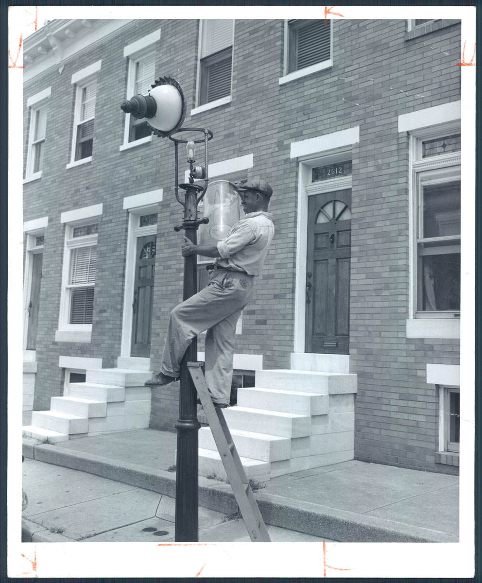 Historic gas lamps of Baltimore
