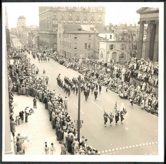 St Patrick's Day Parade, 1958. (WM Klender).