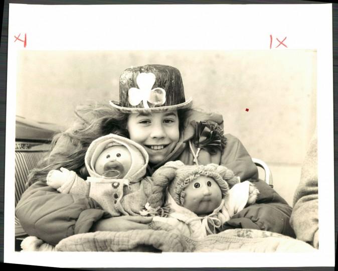 """""""Karen Gordes, 10, of Randallstown, brought along her friends."""" March, 1985."""
