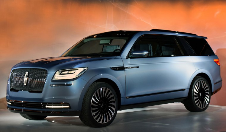 Lincoln unveiled a concept version of its Navigator full-size SUV in New York ahead of the New York International Auto Show. (Ford)
