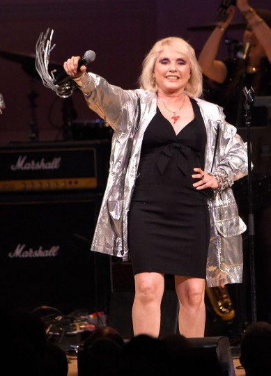 Debbie Harry performs onstage during The Music of David Bowie at Carnegie Hall on March 31, 2016 in New York City. (Photo by Kevin Mazur/Getty Images)