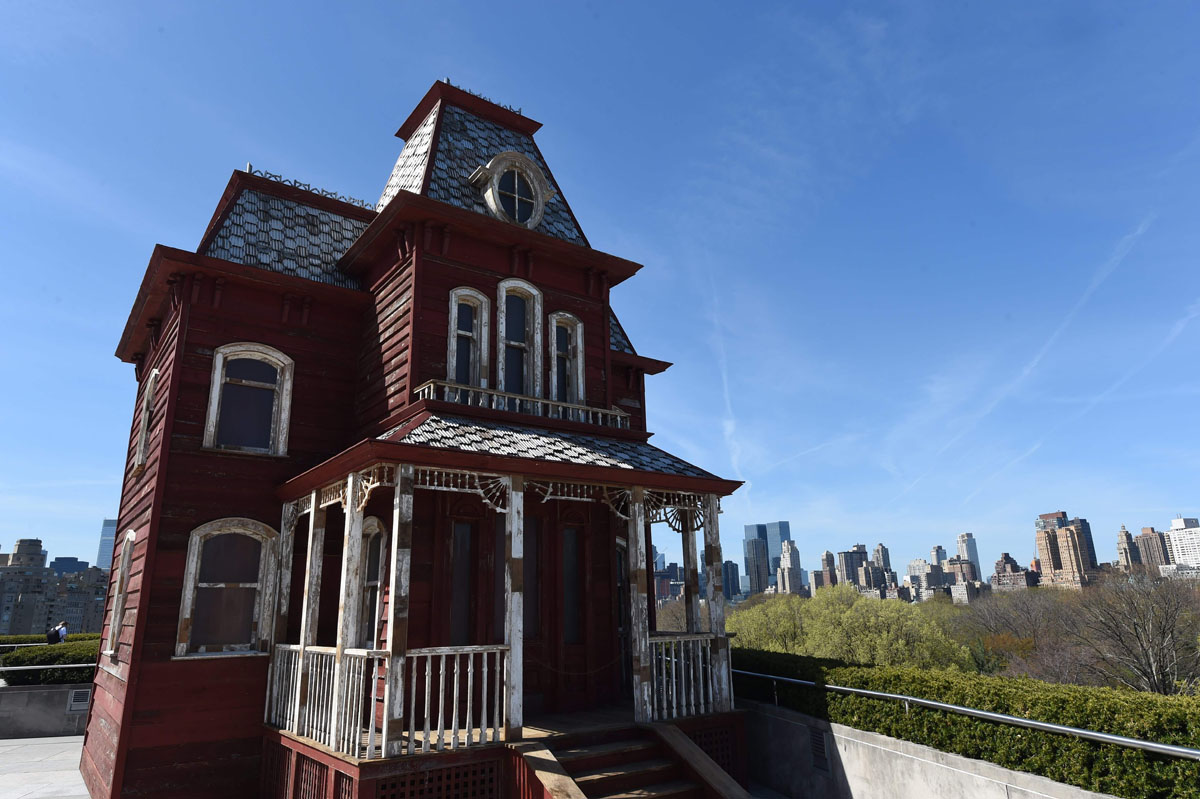 Bates mansion on the Met roof