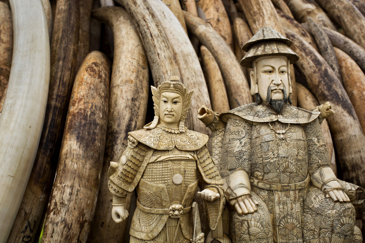 Ivory statues collected in Nairobi, will be burned