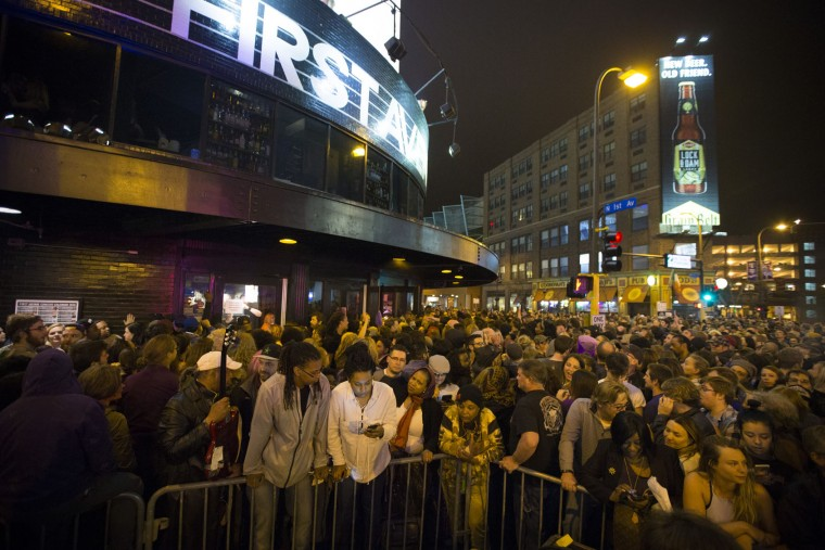 "A crowd gathers outside of First Ave., a dance venue, to honor Prince in Minneapolis, on Thursday, April 21, 2016. Prince, widely acclaimed as one of the most inventive and influential musicians of his era with hits including ""Little Red Corvette,"" ''Let's Go Crazy"" and ""When Doves Cry,"" was found dead at his home on Thursday in suburban Minneapolis, according to his publicist. He was 57. (Renee Jones Schneider/Star Tribune via AP)"