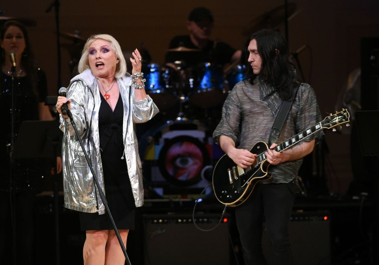 Singer Deborah Harry performs at The Music of David Bowie tribute concert at Carnegie Hall on Thursday, March, 31, 2016, in New York. (Photo by Evan Agostini/Invision/AP)