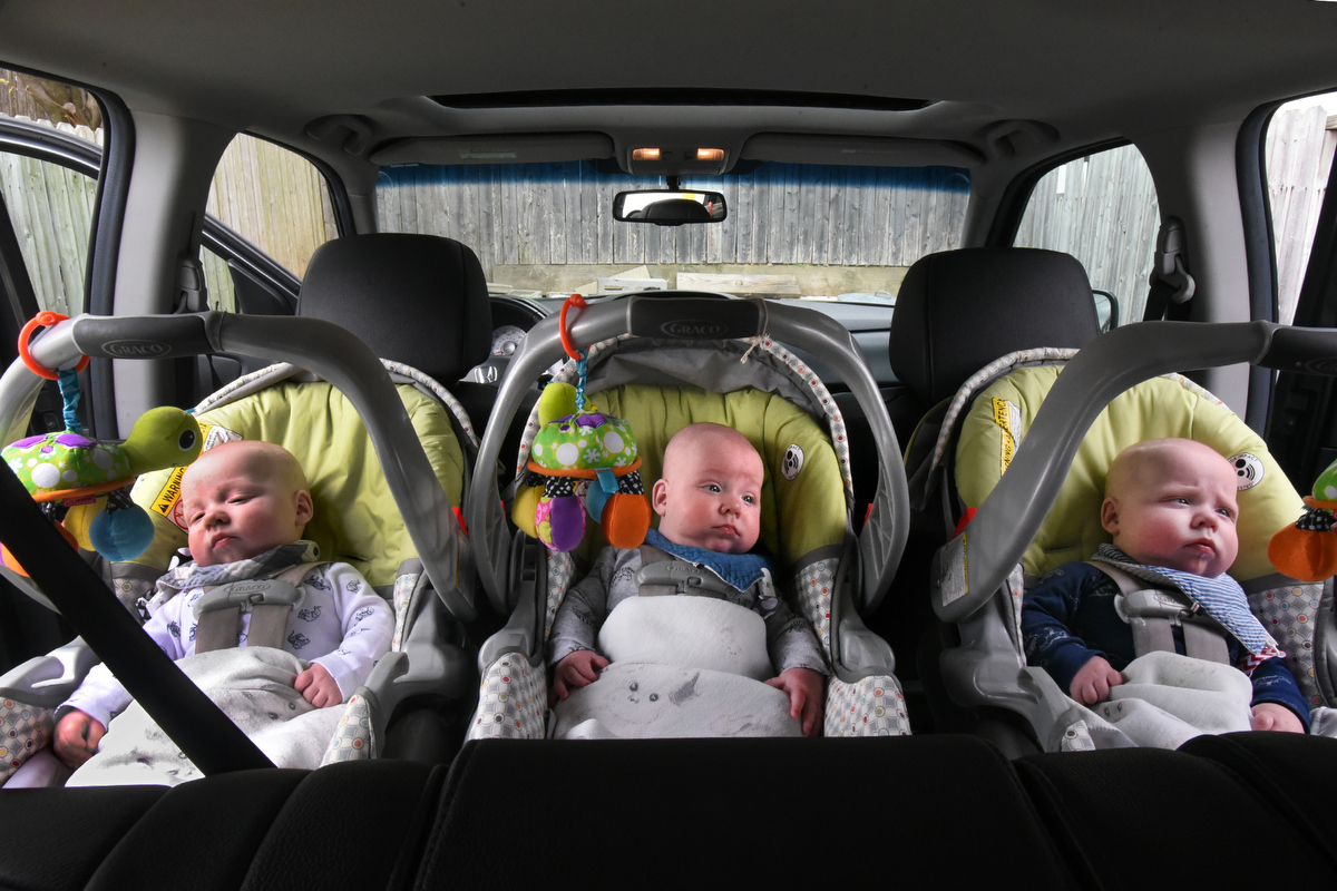 The Hewitt triplets are thriving at six months