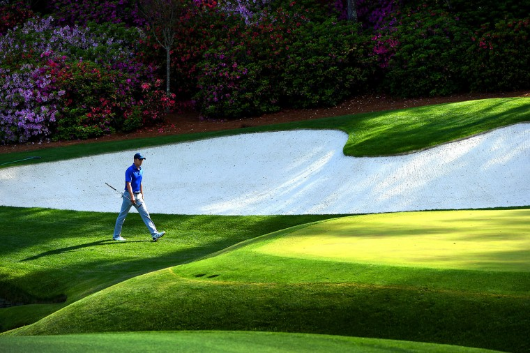 Jordan Spieth walks to the 13th green during the second round of the 80th Masters at the Augusta National Golf Club on Friday, April 8, 2016, in Augusta, Ga. (Jeff Siner/Charlotte Observer/TNS)