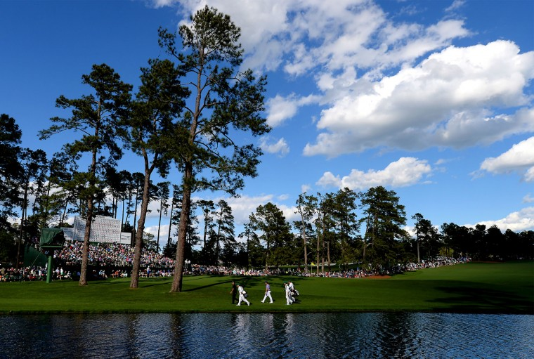 Despite a beautiful sky, wind was a challenge for golfers at Augusta National Golf Club during second-round action of the 80th Masters at the Augusta National Golf Club on Friday, April 8, 2016, in Augusta, Ga. (Jeff Siner/Charlotte Observer/TNS)