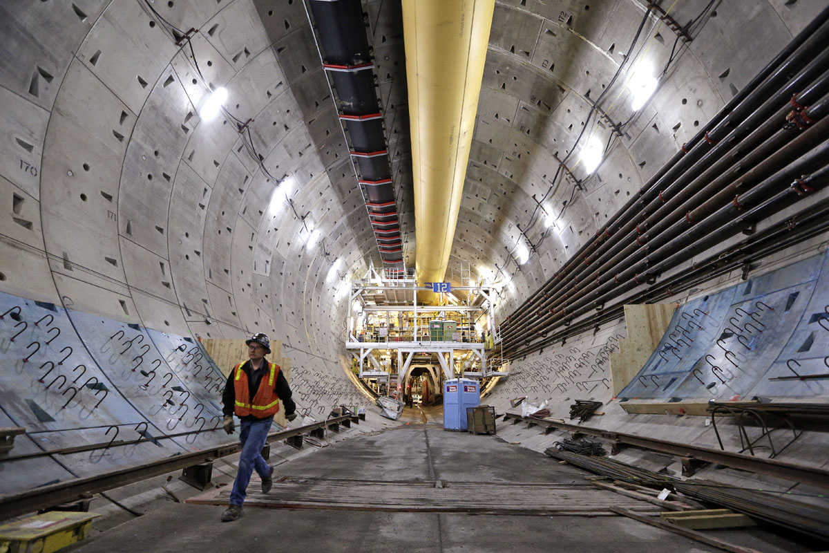 Seattle tunnel under construction