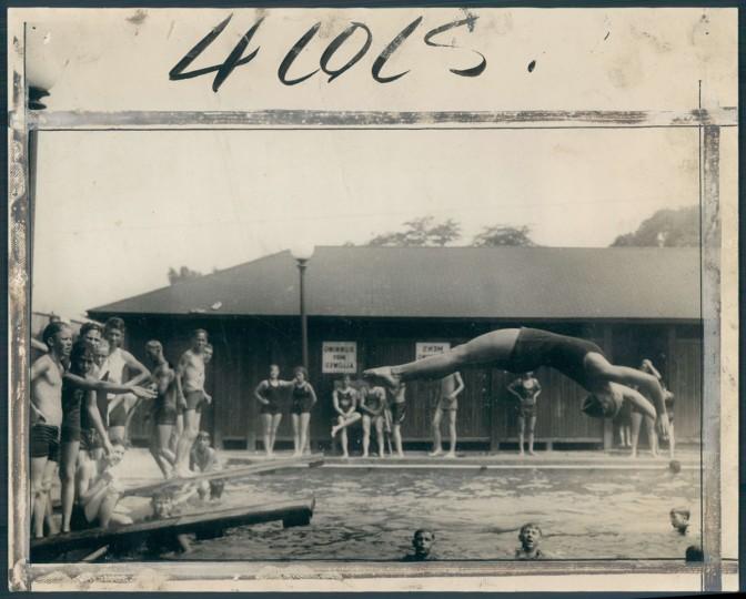 Gwynn's Falls Swimming Pool, August 2, 1937. (Baltimore Sun)
