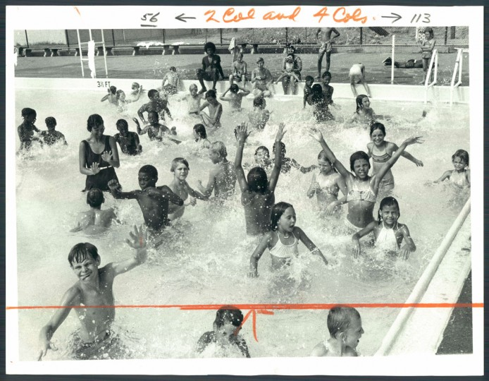Patterson Park Swimming Pool, July 19, 1977.