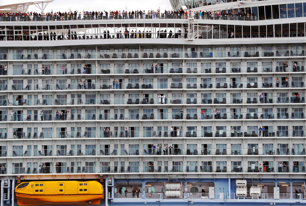 Largest cruise ship ever sets sail for maiden voyage