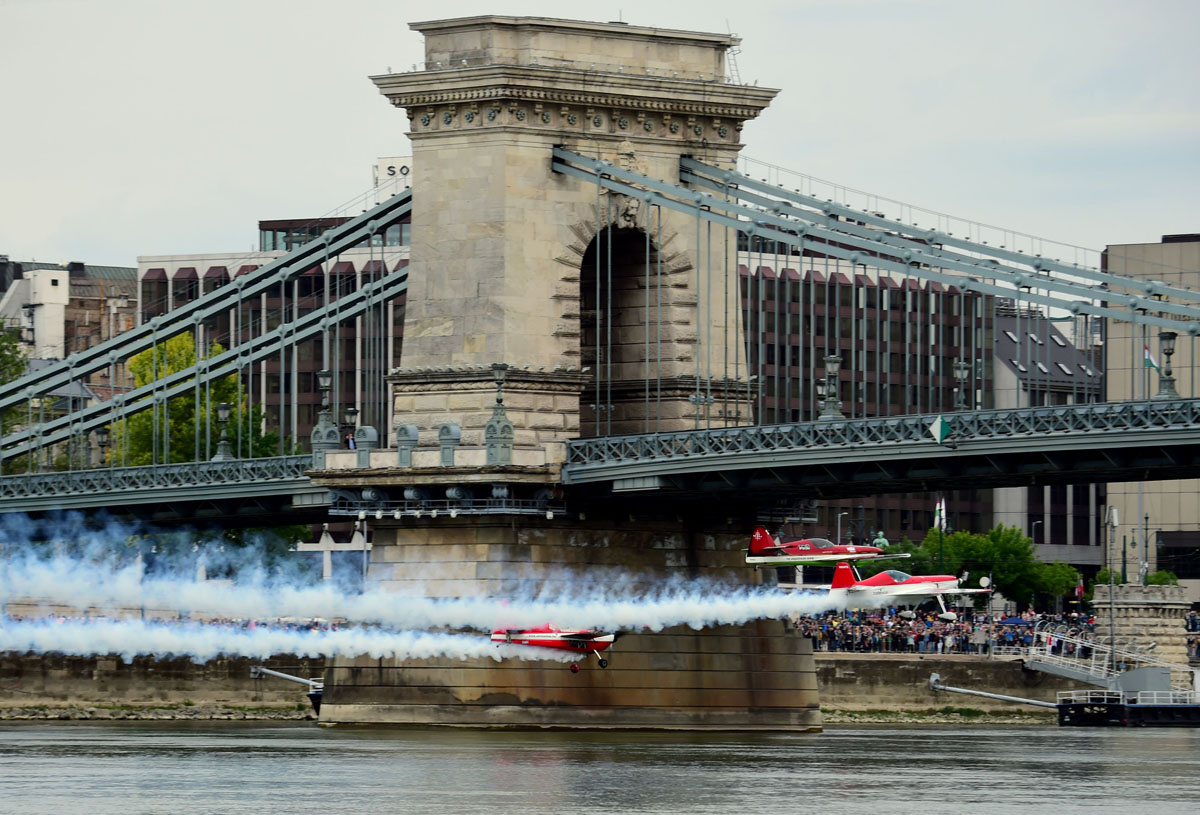 Budapest Air Show takes flight over the Danube