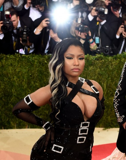 Nicki Minaj arrives for the Costume Institute Benefit at The Metropolitan Museum of Art May 2, 2016 in New York. / AFP PHOTO / TIMOTHY A. CLARYTIMOTHY A. CLARY/AFP/Getty Images