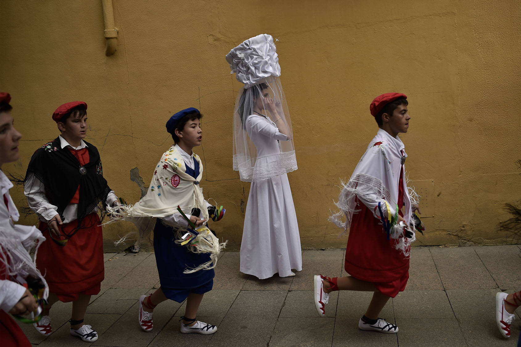 Bread Procession of the Saint in Spain