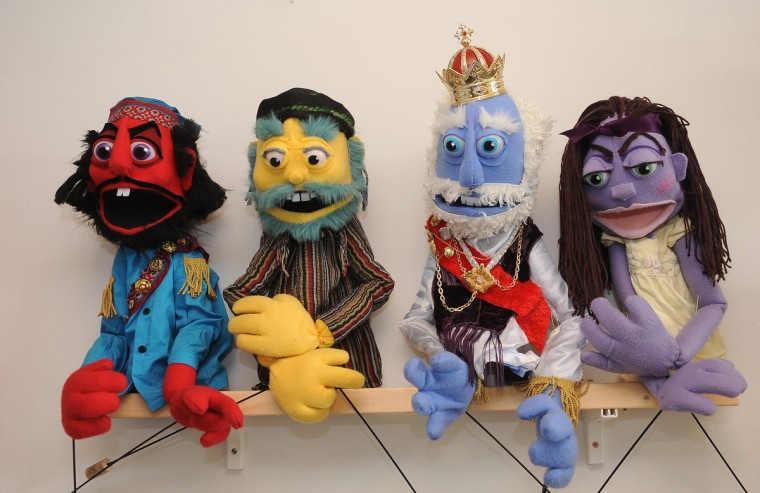 These are some of the puppets created by Tiffany Lange, founder of Charm City Puppets, who works out of a studio in the Creative Alliance at the Patterson. (Barbara Haddock Taylor/Baltimore Sun)