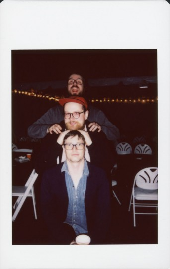 Dan Deacon with musicians Albert Schatz (Wume) and Devlin Rice (Ed Schrader's Music Beat)