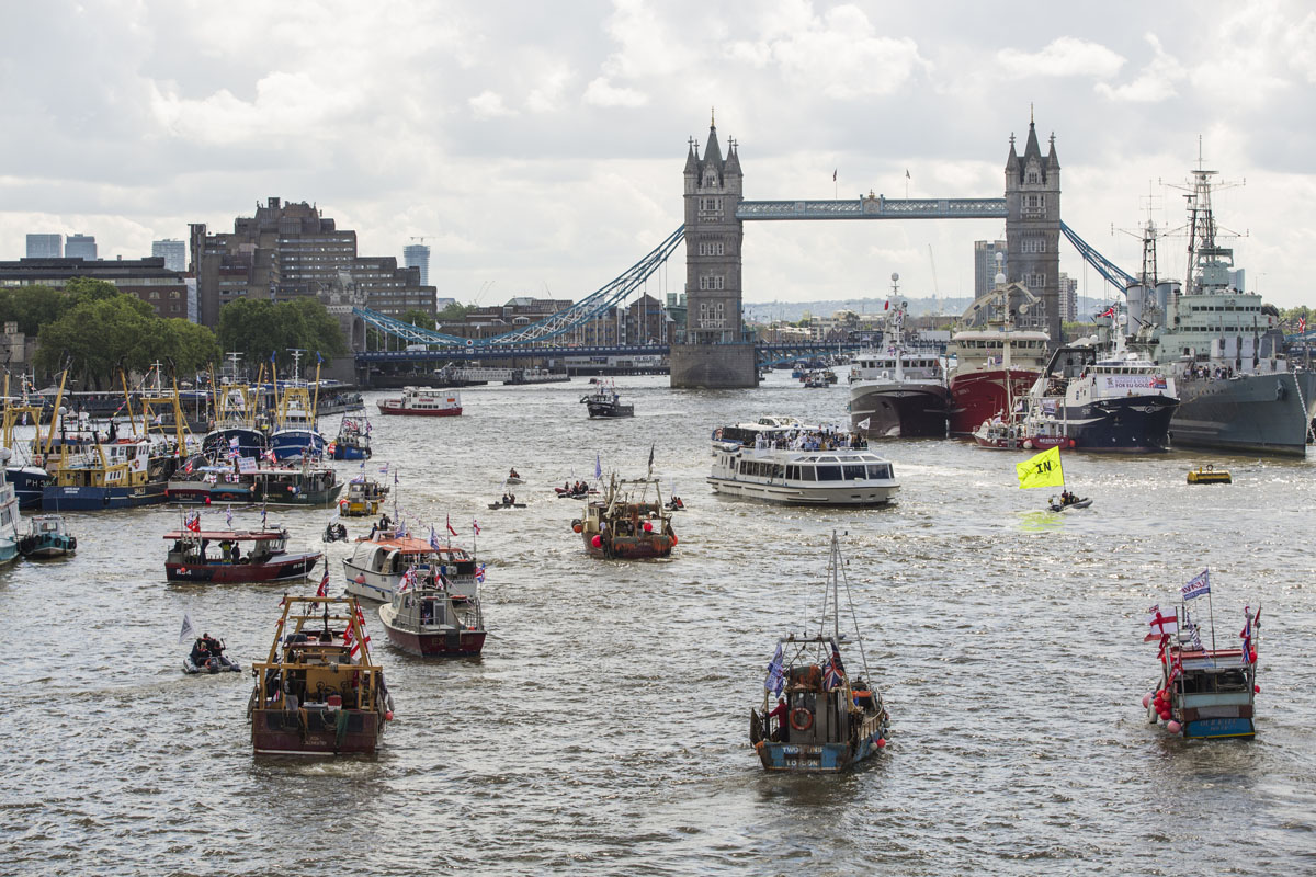 Flotilla battle in London over Brexit