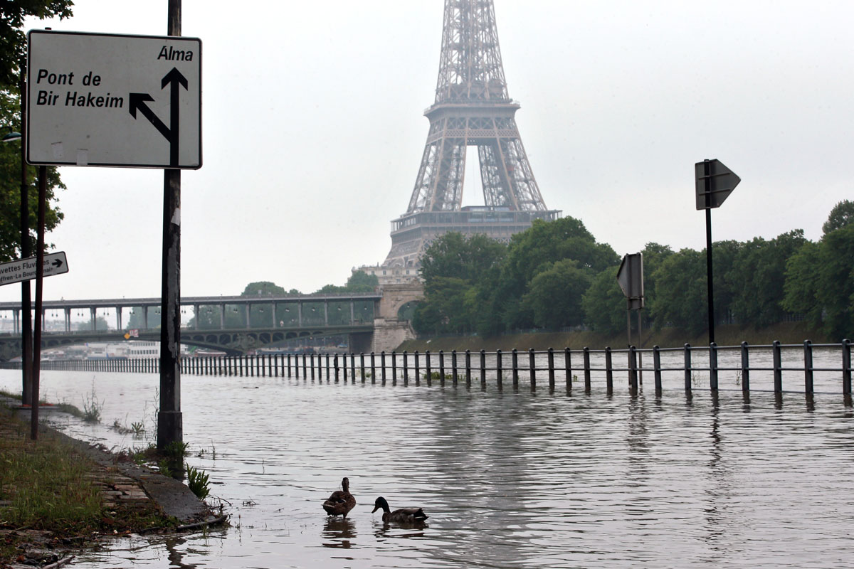 Paris hit by heavy floods